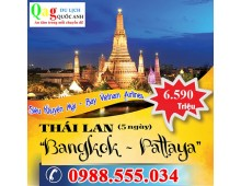 Tour du lịch Thái Lan 5 ngày 4 đêm 2016 bay Vietnam airline